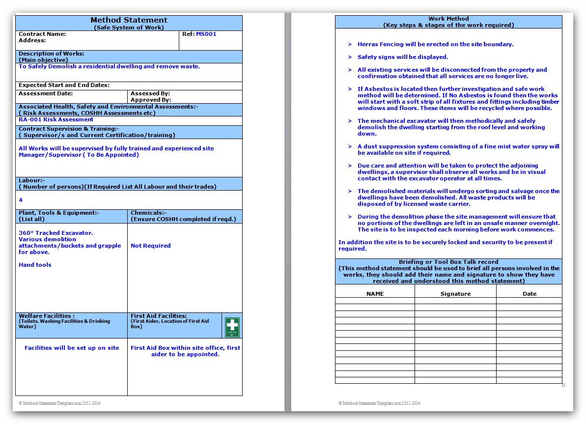 ms word work order template